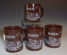 Set/4 Boston Skyline Mugs