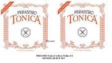 PIRASTRO Tonica Cordiera per Violino 4/4 OFFERTA DI DUE MUTA DI CORDE IN NYLON