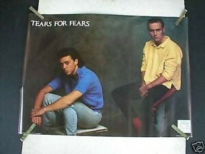 RARE TEARS FOR FEARS 1985 VINTAGE ORIGINAL MUSIC POSTER
