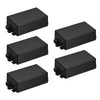 5Pcs 65 x 38 x 22mm Electronical Plastic DIY Junction Box Enclosure Case Black