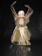 Vintage Holt Howard Japan Gold Mesh Christmas Angel Tree Topper