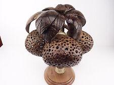 Palme mit drei Kokosnuss Coconut Tisch Lampe Holz Raum Dekoration Geschenk