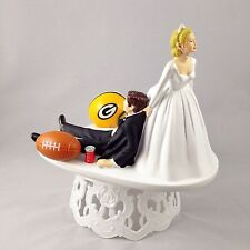 Funny Wedding Cake Topper Football Themed Green Bay Packers Humrous And Unique