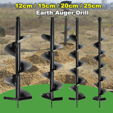Single Blade Auger Bit Drill Garden Planting Earth Petrol Post Hole Digger