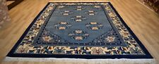 Rare 1940's Imperial Chinese  Art Deco Rug   9Ft x 12Ft Free Express Shipping