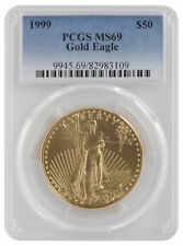 1999 - $50 1oz Gold American Eagle MS69 PCGS Blue Label
