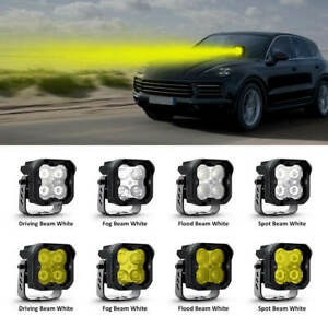 Lasfit 3'' LED Pod Light Off Road for Porsche Macan Cayenne 18W/36W White/Yellow