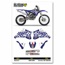2006-2009 YAMAHA YZF 250-450 Dirt Bike Graphics kit Motocross Graphics Decal