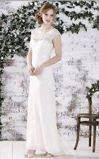 MONSOON Wedding Dress 14 DELANEY Ivory Beaded SILK Jewelled Vintage Boho BNWT