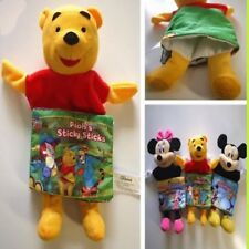 Disney Winnie The Pooh Cloth Book Rattle Hand Puppet Educational Soft Toy GIFT