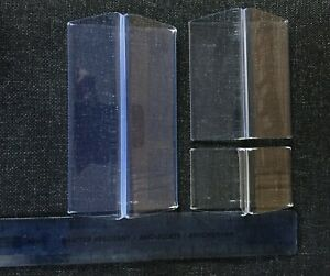 Menu Base Acrylic Card Holder Stand  Pack of 5 Clear 2 x 50, 2 x 100, 1 x 150mm
