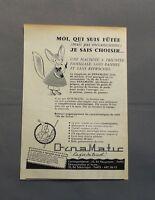 PUB PUBLICITE ANCIENNE ADVERT CLIPPING 130517 / MACHINE A TRICOTER DYNAMATIC