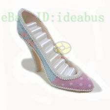 "4.75""tall pink+blue High Heel Shoe Jewelry Ring Holder Storage Display Organizer"