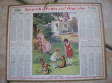 ALMANACH  POSTES ET TELEGRAPHES 1936 (LE GOUTER DE L AMI MARTIN)  ISERE (oh)