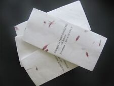 Pink and Purple Aster Petals on Ivory Handmade Paper #10 Envelopes, pack of 50