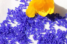 2x4mm Wampum Old Time Tube Bead Blue Matte Crafts Jewelry Making Beads /1oz