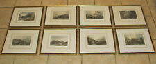 8 Antique Colored Engravings New York Pennsylvania Connecticut 1830's