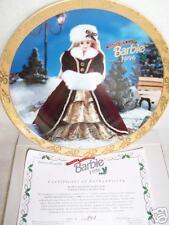 "New Barbie Plate ""Happy Holidays Barbie 1996"" 188816!"