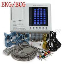 12-lead Digital 3-channel Electrocardiograph ECG/EKG Machine with interpretation