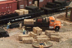 14 WOOD Crates N Scale Details
