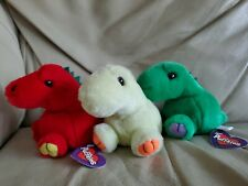 Puffkins Dinosaurs Drake Red Dinky Yellow Pickles Green Retired Swibco 1997