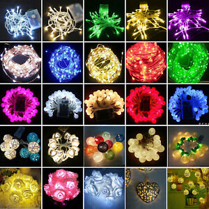 2/3/4M Ornament Home Decor Xmas Christmas Party LED Battery Fairy String Lights