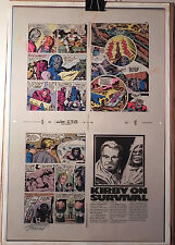 NEW GODS BOOK 6 FLAT 2 JACK KIRBY ORIGINAL 3M COLOR ART SIGNED A. TOLLIN w/COA
