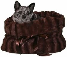 Pet Flys Brown Reversible Snuggle Bugs Pet Bed, Bag and Car Seat In One TAXFREE