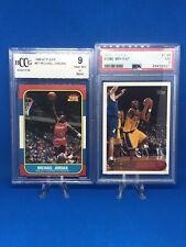 Michael Jordan Authentic 1986 Fleer RC Rookie BCCG 9 BGS With Bonus PSA Kobe RC!
