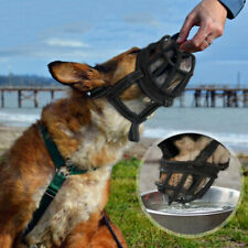 Heavy Duty Large Dog Muzzle Basket Cage Adjustable Strap Flexible Soft Silicone