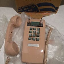Vintage looking Cortelco Model 255413-VBA-20M Beige Touch Tone Wall Telephone