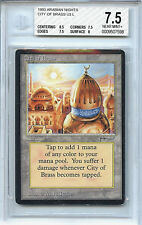 MTG Arabian Nights City of Brass BGS 7.5 NM+ Card Magic the Gathering WOTC 7598