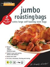 2 x JUMBO TURKEY ROASTING OVEN BAGS 55X60 CM - self basting