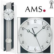 AMS Reloj de pared 5262 Radio con péndulo Parte Posterior De Madera,