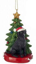 Black Labrador Christmas Tree Ornament