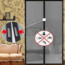 Anti Mosquito Curtain Magnetic Tulle Curtain Automatic Close Door Screen Black A