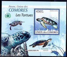 Comoros 2009 MNH Sheet, Loggerhead sea turtle, Marine Life