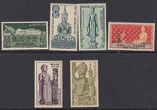 LAOS : 1953 Airmail-Statues of Buddha set SG34-9 MNH