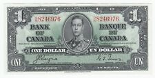1937 Bank of Canada Uncirculated $1 - Cat# BC-21d. S/N: D/N8246976