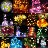 Waterproof 40LEDs Copper Wire String Fairy Lights Xmas Party Remote Control