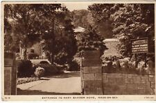 Postcard - ENTRANCE TO MARY BAMBER HOME, RHOS ON SEA.      (Ref C20)