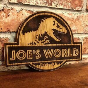Jurassic Park Inspired Dinosaur Personalized Name, Door, Wall Plaque