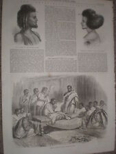 Abyssinia Danakil tribe leaders and Kassai Prince of Tigre 1868 prints Ref W1