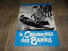 LA CHEVAUCHEE DES BANNIS Robert Ryan scenario dossier presse cinema western 1959