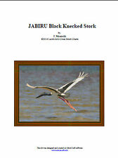 JABIRU Black Knecked Stork - cross stitch chart