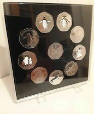 ACRYLIC COIN DISPLAY CASE,TRAY FOR 50 pence (10 slots) coins not included.