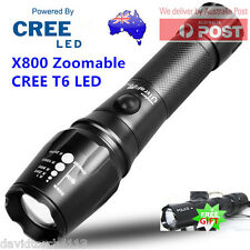 Military Grade X800 Zoomable CREE T6 LED 18650 Rechargeable AAA Battery Torch