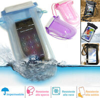 Sacchetto waterproof custodia impermeabile gonfiabile mare galleggiante per HTC