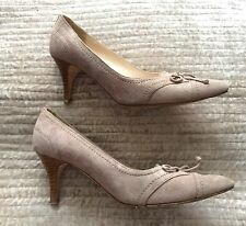 LK BENNETT beige grey suede court shoes low heel kitten 36 UK 3