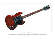 Pete Townshend's Gibson SG Special guitar Limited Edition Fine Art Print A3 size